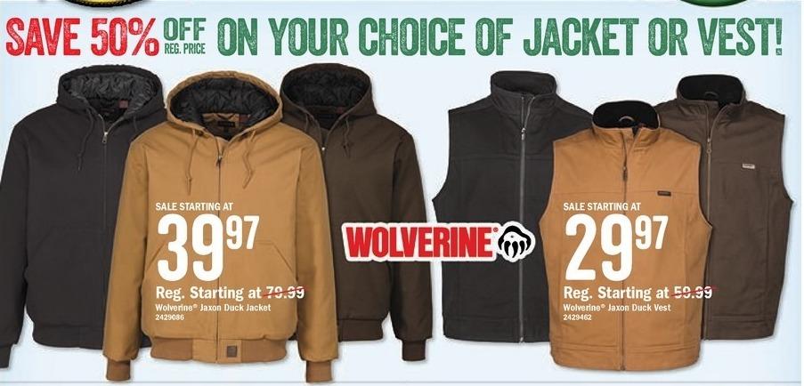 Bass Pro Shops Black Friday: Wolverine Jaxon Duck Vest - From $29.97