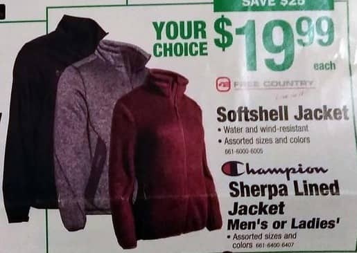 Menards Black Friday: Free Country Water and Wind-Resistant Softshell Jacket, Assorted Sizes and Colors for $19.99