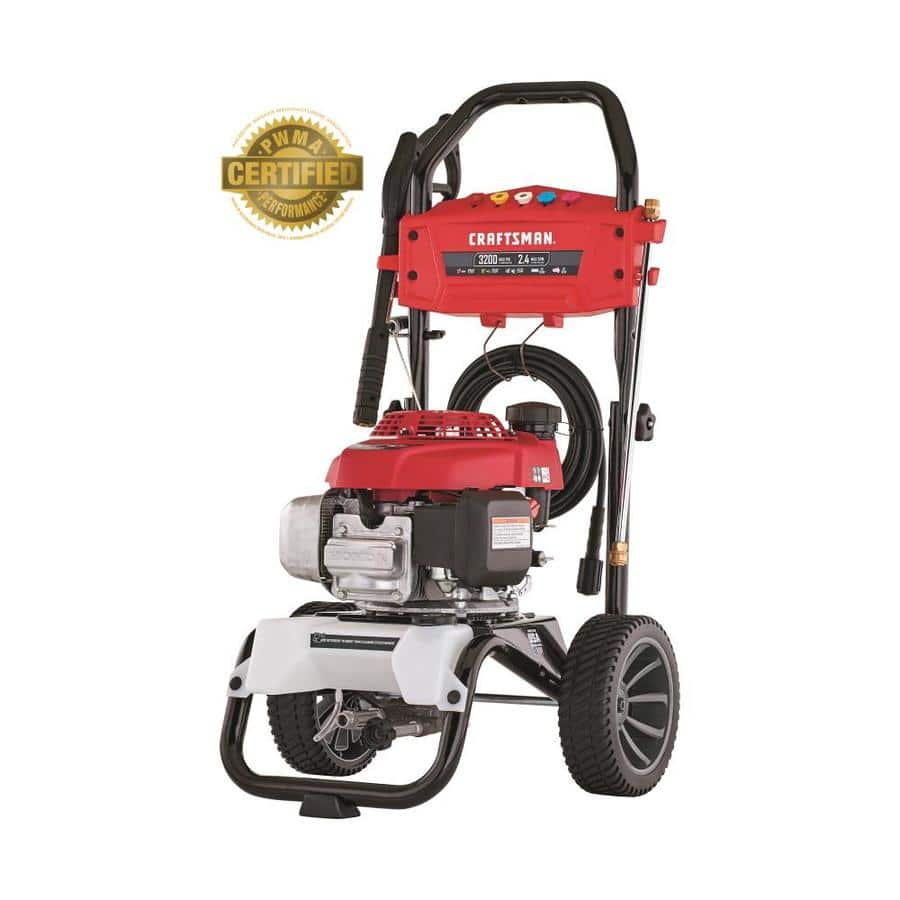 CRAFTSMAN 3200-PSI 2.4-GPM Cold Water Gas Pressure Washer with Honda Engine CARB $349.99