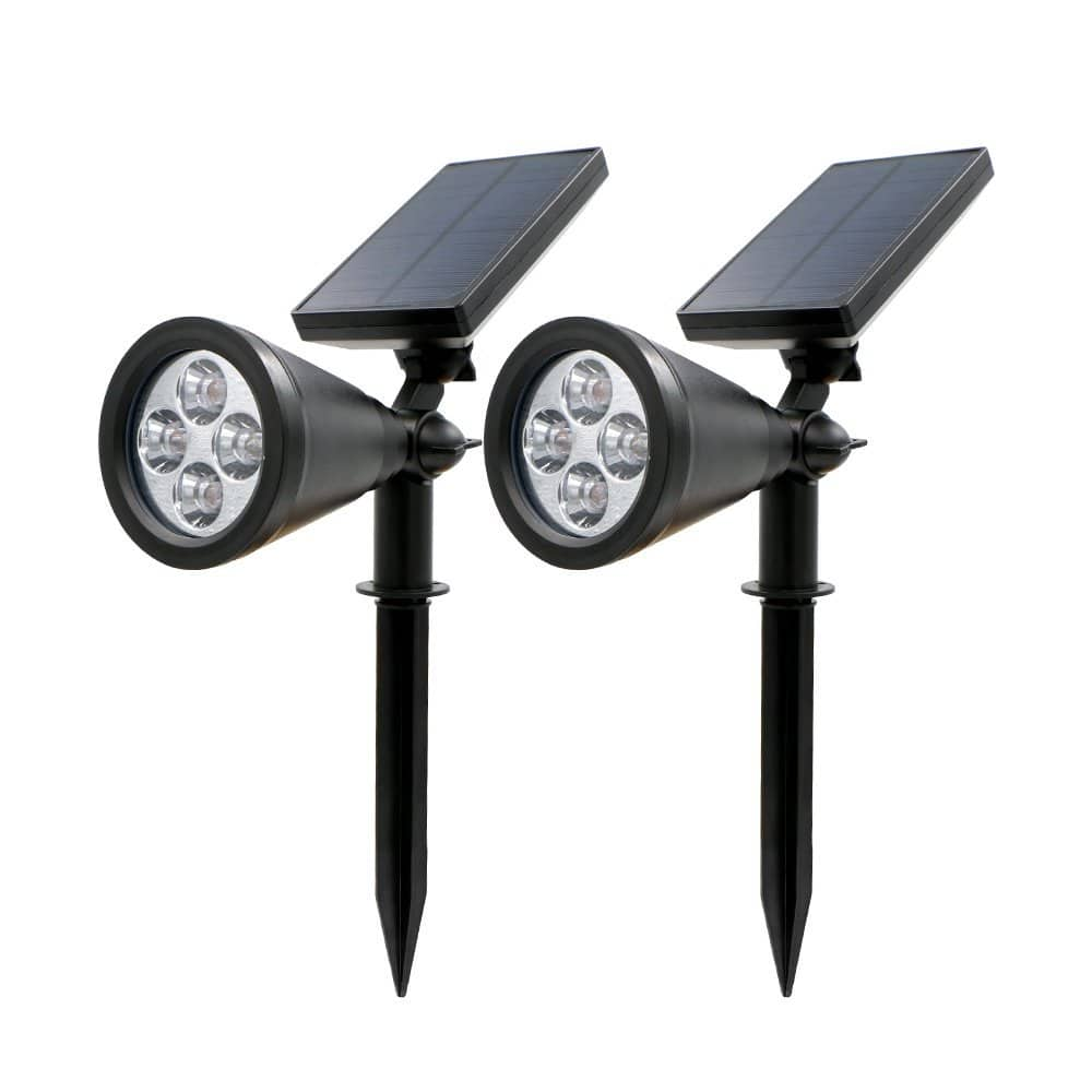 Rusee Solar Lights for Outdoor Lighting with Auto On/Off (2-Pack) @ $22.99 + FS W/Prime