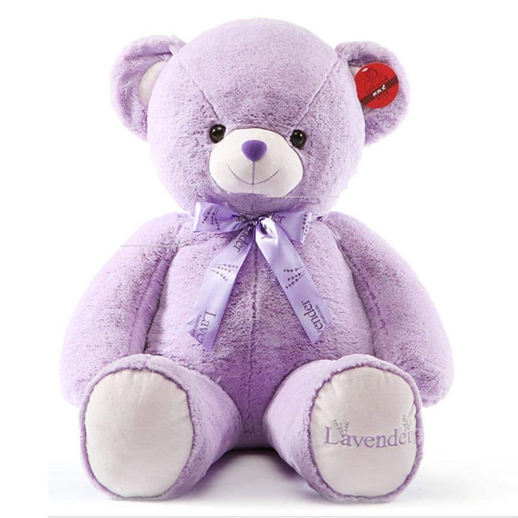 """Kaylee & Ryan 31.5"""" Lavender Giant Teddy Bear - 50% off with promo code - $24.99, possibly $17.49 - Amazon Prime"""