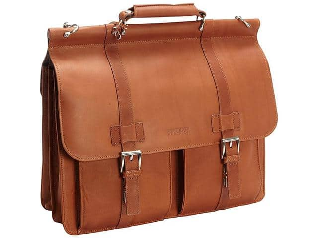 Kenneth Cole Reaction Mind Your Own Business Columbian Leather Dowel Rod Laptop Case Bag - $99.99 shipped @ Newegg