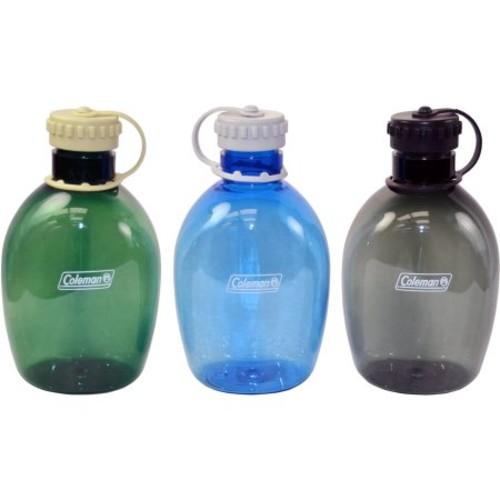 Coleman 34 oz Plastic Canteen, Blue/Green/Black $4.19 + fs