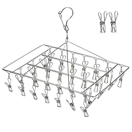 36 Clips Metal Clothespins, Stainless Steel Clothes Drying Rack $5.88