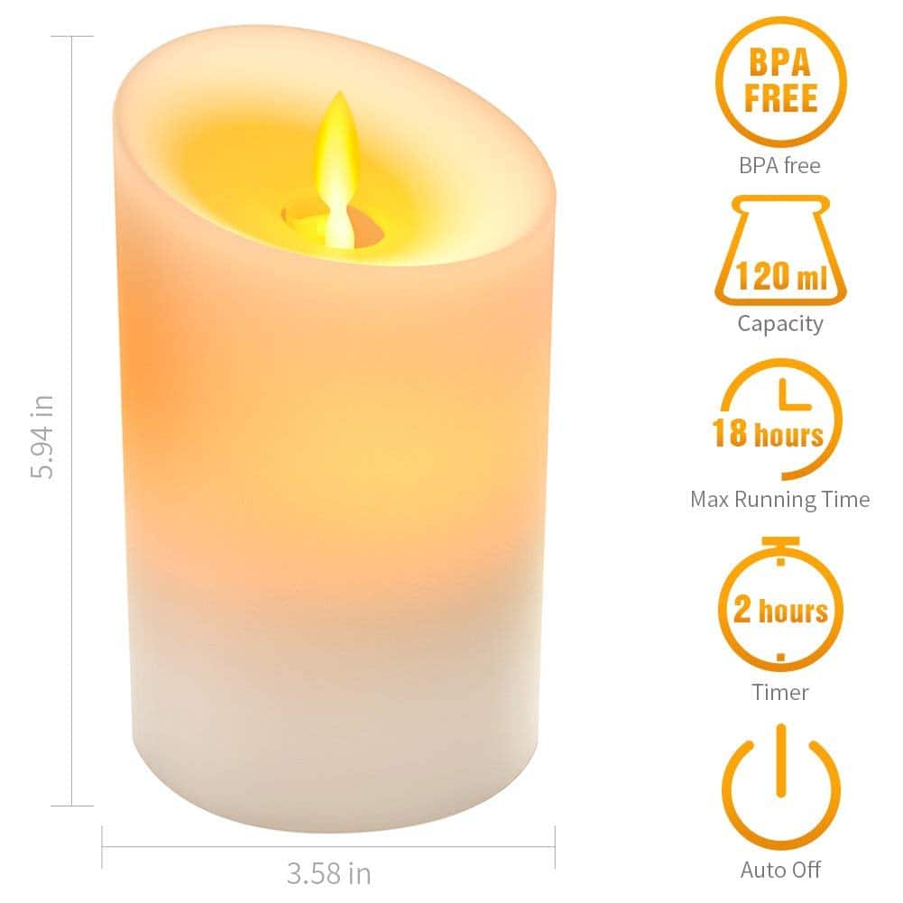 KKUP2U Essential LED Scented Candle Oil Diffuser w/ Auto