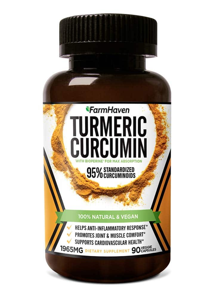 Healthy Choices Store via Amazon: Farmhaven Turmeric Curcumin with BioPerine Black Pepper & 95% Curcuminoids, 1965mg, 90 CT for $12.09. Free Shipping with Prime or on Orders $25+