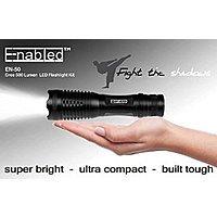 Enabled EN50 Cree 500 Lumen Super Bright LED Tactical Torch Flashlight Bundle $  9.99 + FS W Prime @ Amazon