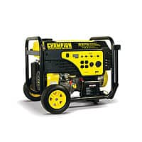BJs Wholesale Deal: Back again! $570 Champion Power Equipment Portable Gas Generator Electric Start with 7,500 Running Watts, 9,375 Peak Watts and Wheel Kit @BJs