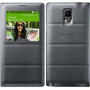 Samsung Note 4 S View Flip Case (OEM) $6 at Amazon