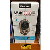 Home Depot Deal: Kwikset Smartcode 910 Touchpad Electornic Deadbolt (Wink/Z-Wave) in Satin Nickel - $109 @ Home Depot (YMMV)