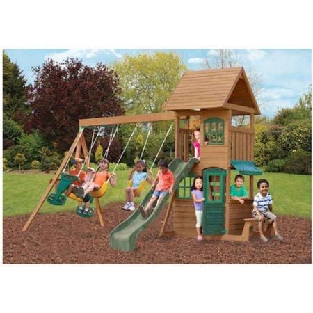 Big Backyard Windale Wooden Cedar Swing Set $400 + fs