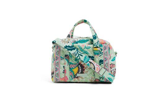 100 Handbag  in Mint Flowers $45.00 + fs