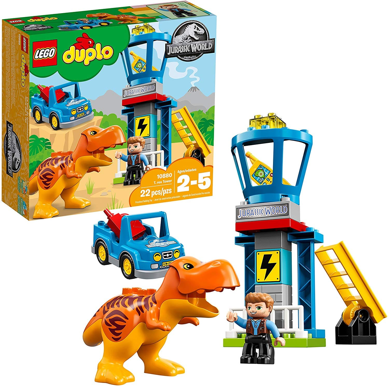LEGO DUPLO Jurassic World T. Rex Tower 10880 Building Kit 22 Pieces $15.03 + ship