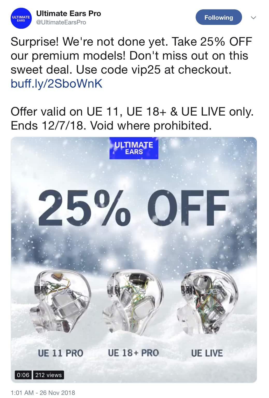 coupon ultimate ears