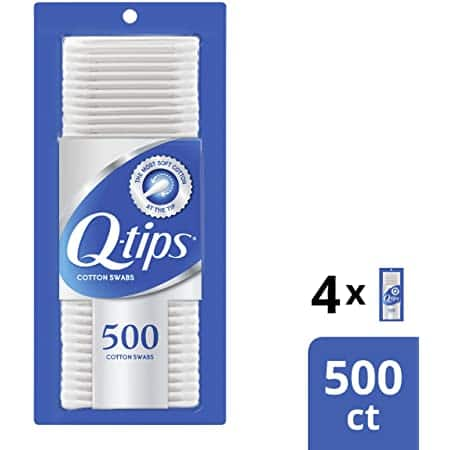 4-Pack of 500-Count Q-tips Cotton Swabs $7.19 + Free Shipping w/Prime Amazon.com