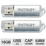 2-Pack 16GB Patriot Xporter Pulse USB 2.0 Flash Drive
