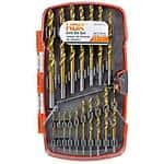 HDX 17-Piece Titanium Drilling Set or HDX 35-Piece Driving Set $2.93 + Free Store Pickup Homedepot.com