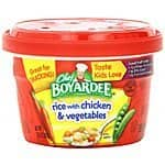 12-Pack Chef Boyardee: 7.25oz Rice w/ Chicken & Vegetables Microwavable Bowls or 15oz Big Beef Overstuffed Ravioli $7.20 or Less + Free Shipping