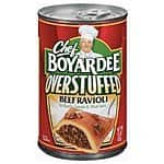 12-Pack 15oz Chef Boyardee Overstuffed Big Beef Ravioli $7.20 or Less + Free Shipping Amazon.com