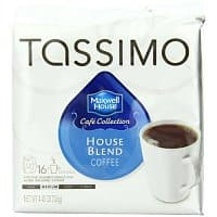 Amazon Deal: 2-Pack Maxwell House Cafe Collection House Blend Coffee, 16-Ct T-Discs for Tassimo Coffeemakers (32 Total) $10.47 or Less + Free Shipping