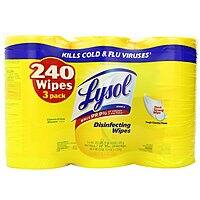 Amazon Deal: 3-Pack Lysol Disinfecting Wipes in Lemon & Lime Blossom Scent (80-count Each)