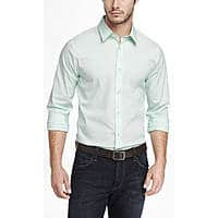 Express.com Deal: Extra 50% Off Express Clearance: 5x Express 1MX Men's Dress Shirts (Tall Only) $62.48 ($12.50/Shirt) w/ Free Shipping