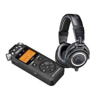 Adorama Deal: Audio-Technica ATH-M50X Headphones + Tascam Digital Audio Recorder