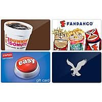 Raise.com Deal: Select Gift Cards Including Fandango, Staples, Dunkin Donuts, Dell & More