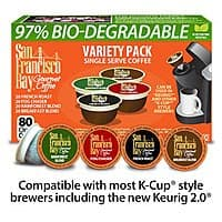 Rogers Gourmet Coffee&Tea Market Deal: 80-Ct San Francisco Bay OneCup Coffee for Keurig Brewers (Various)