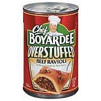 Amazon Deal: 12-Pack 15oz Chef Boyardee Overstuffed Big Beef Ravioli $7.20 or Less + Free Shipping Amazon.com