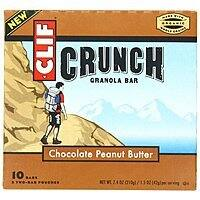 Amazon Deal: 10-Count 1.48oz. Clif Crunch Granola Bar: Chocolate Chip $2.64, Chocolate Peanut Butter $2.29 or Less + Free Shipping Amazon.com
