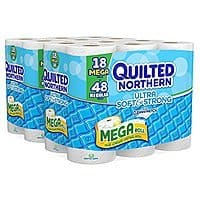 Amazon Deal: 36-Ct Quilted Northern Ultra Soft & Strong Mega Roll Bath Tissue $16.24 or Less + Free Shipping Amazon.com