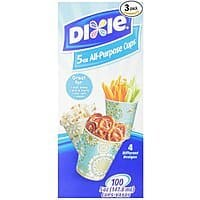 Amazon Deal: 3-Pack 100-Count Dixie 5oz All-Purpose Cups (300 Total) $3.71 + Free Shipping Amazon.com