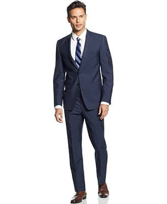Men's Suits: Perry Ellis $128, Unlisted by Kenneth Cole $111, Andrew Fezza  $105 & More + Free Shipping