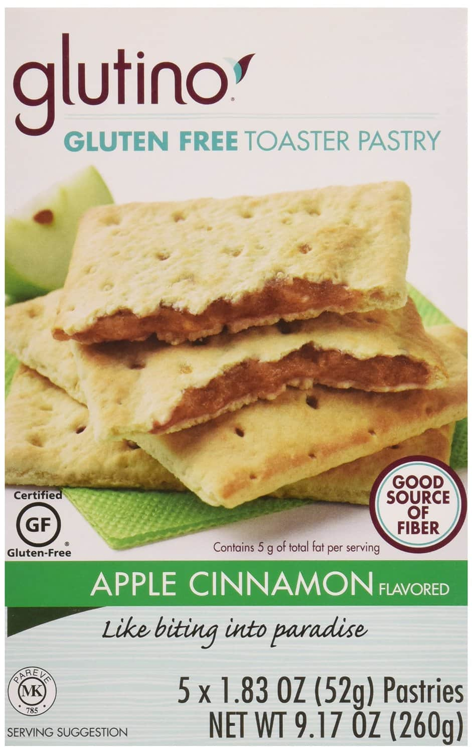 5-Ct Glutino Gluten Free Toaster Pastry (Strawberry or Apple Cinnamon)  $2.75 + Free Shipping
