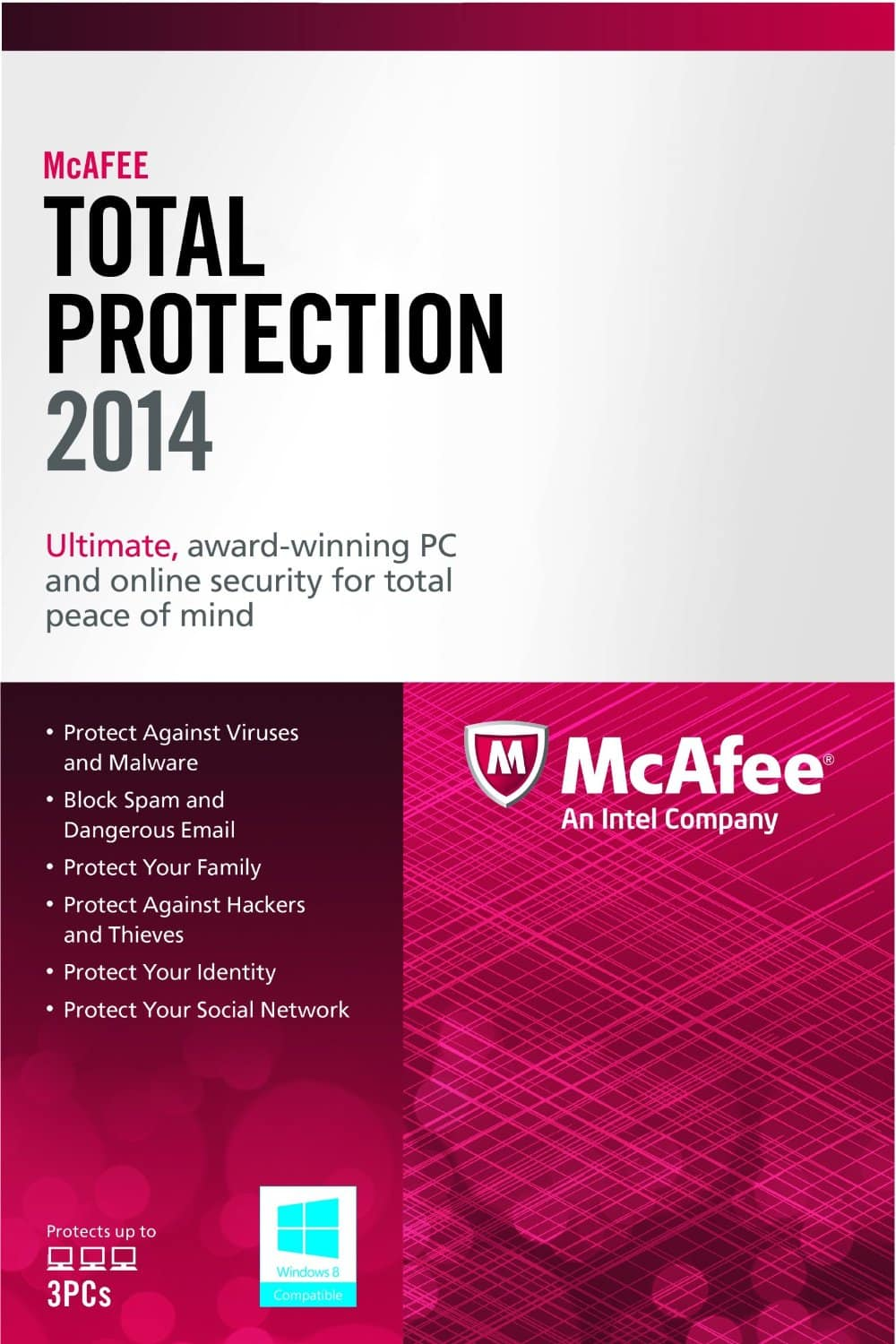 McAfee Total Protection 2014 (3 PC) + $10 Dell eGift Card - $9.99 - Free Shipping