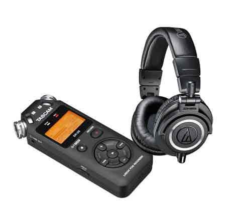 Audio-Technica ATH-M50X Headphones + Tascam Digital Audio Recorder  $144 After $25 Rebate + Free Shipping