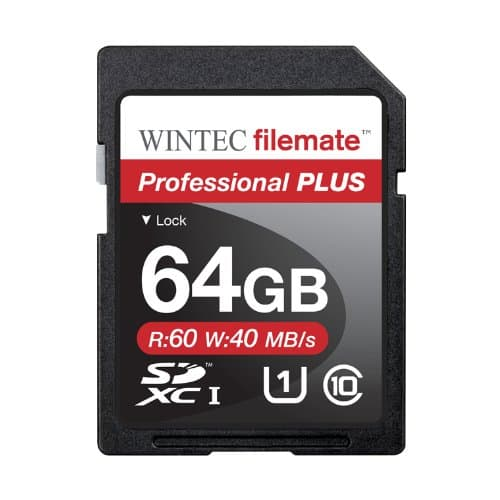 64GB Wintec Professional Plus Class 10 SDXC Memory Card $18.98