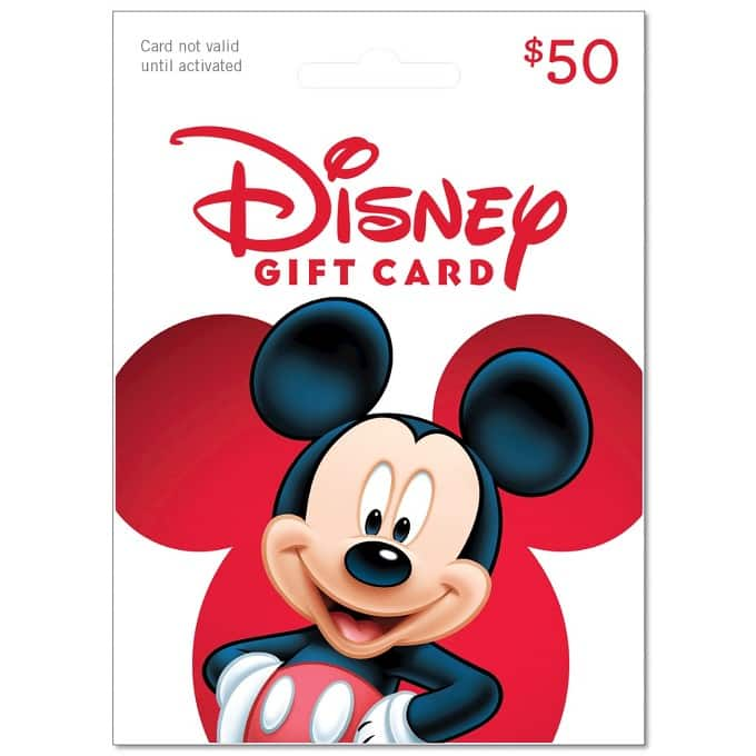 $50 Disney Gift Cards for $42.50 w/target red card
