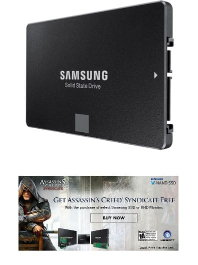 """500GB Samsung 850 EVO 2.5"""" SATA III Solid State Drive + Assassins Creed Syndicate  $142 + Free S/H"""