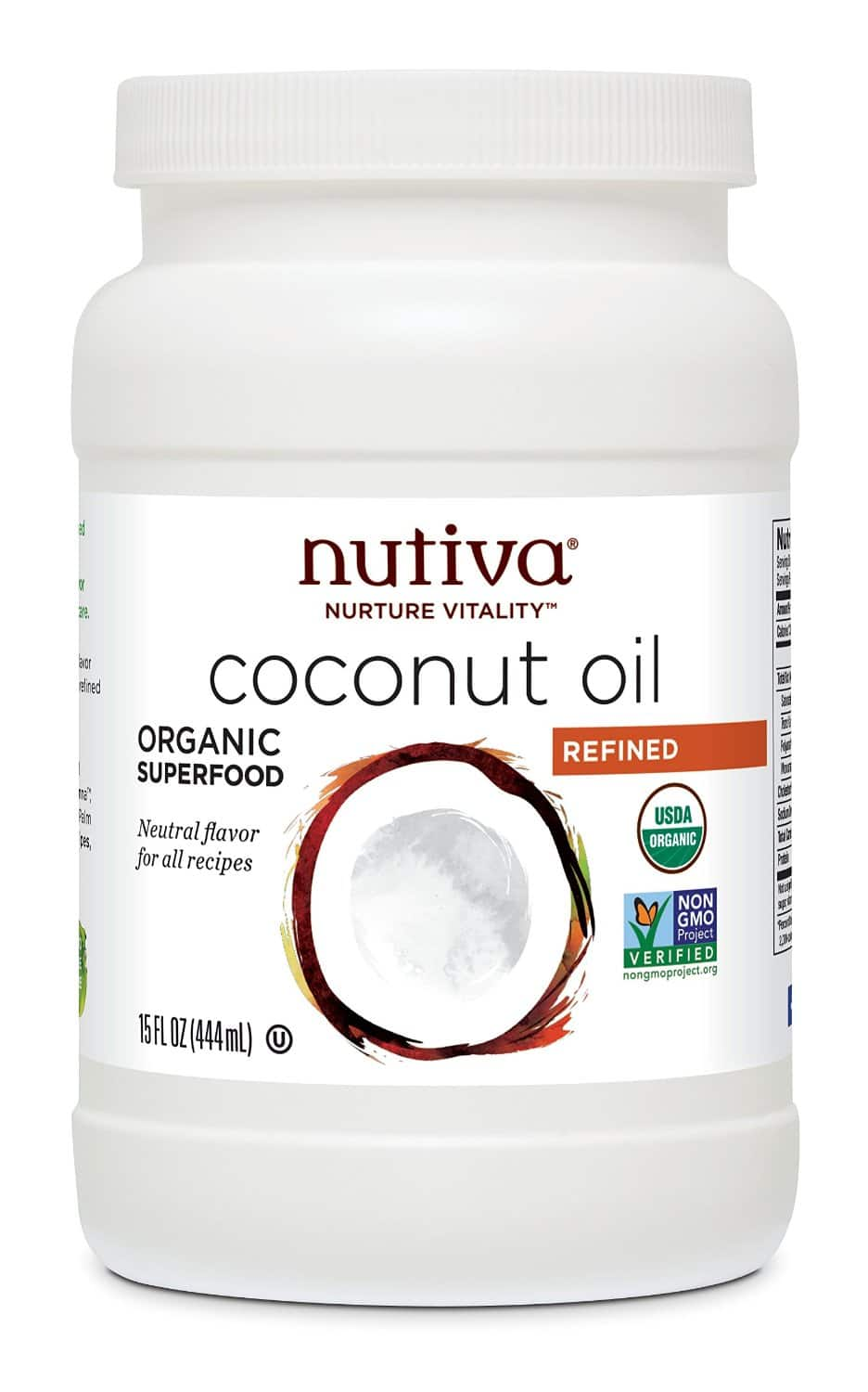Amazon nutiva organic refined coconut oil 15oz  $6.80 or less with s&s
