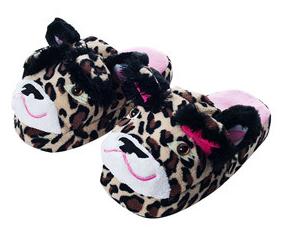 Kid's Silly Slippeez Glow in the Dark Slippers (Leopard or Zebra)  Free + Free Shipping