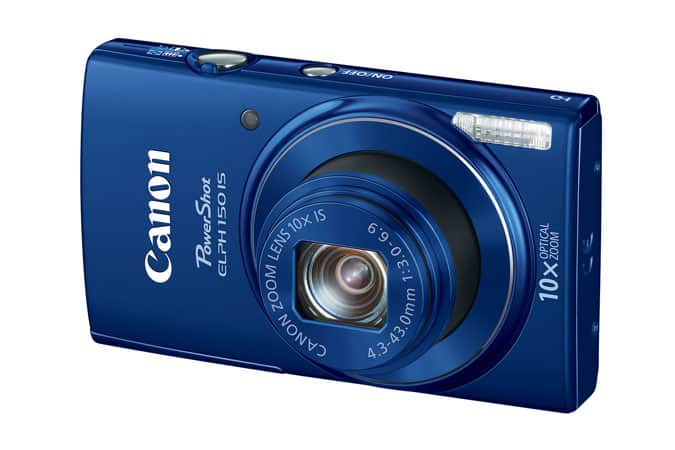 Canon PowerShot ELPH 150 20MP IS Digital Camera in Blue (Refurbished) $47.99 + 2-Day Free Shipping