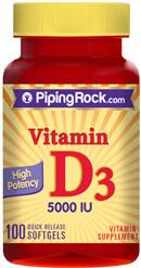 BOGO on Select Piping Rock Items: 2x 100-Ct Piping Rock Vitamin D3  $2.35 (New Customers Only)