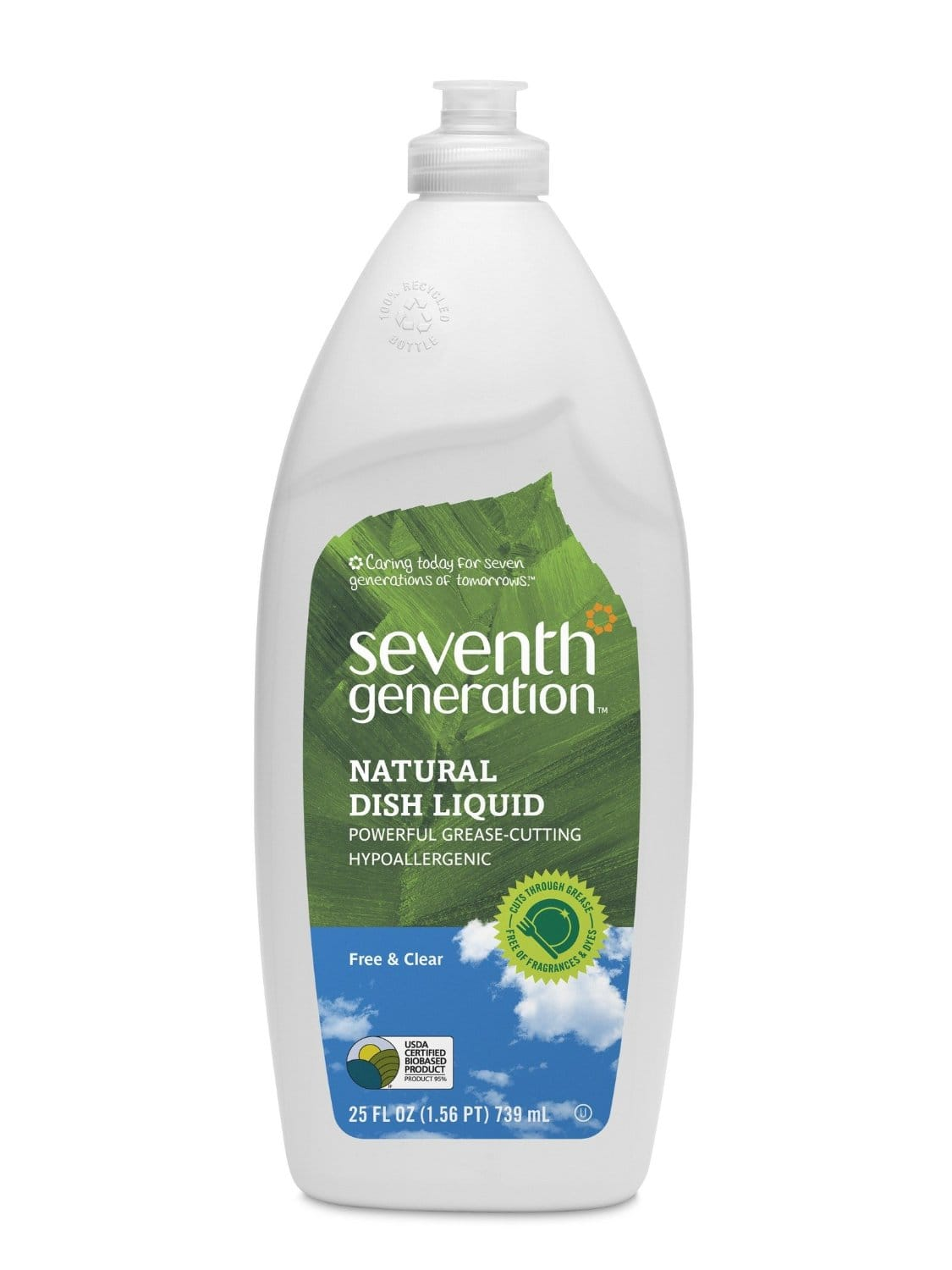 6-Pack of 25oz Seventh Generation Natural Dish Liquid (Free & Clear)  $11.70 + Free Shipping