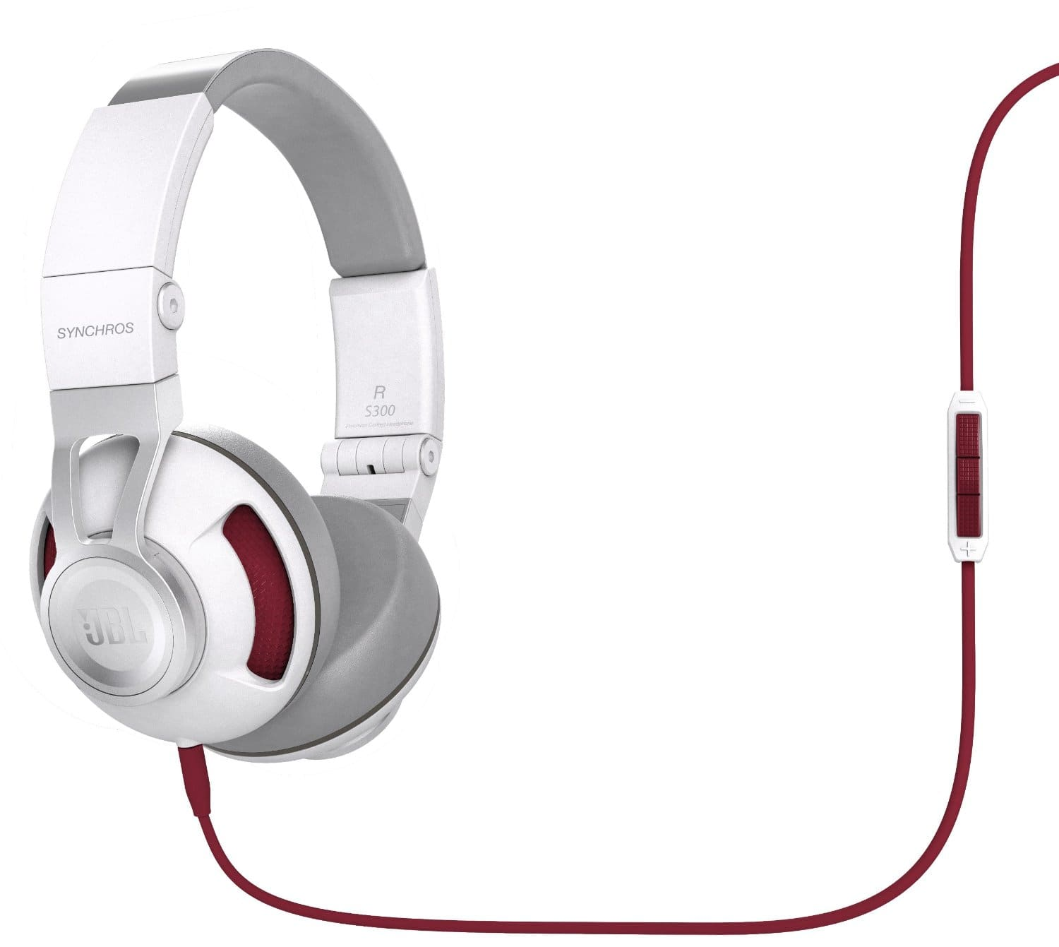 JBL Synchros S300 On-Ear White & Red Headphones with Built-In Android Remote + Microphone for $39.99 + Free Shipping @ Newegg.com