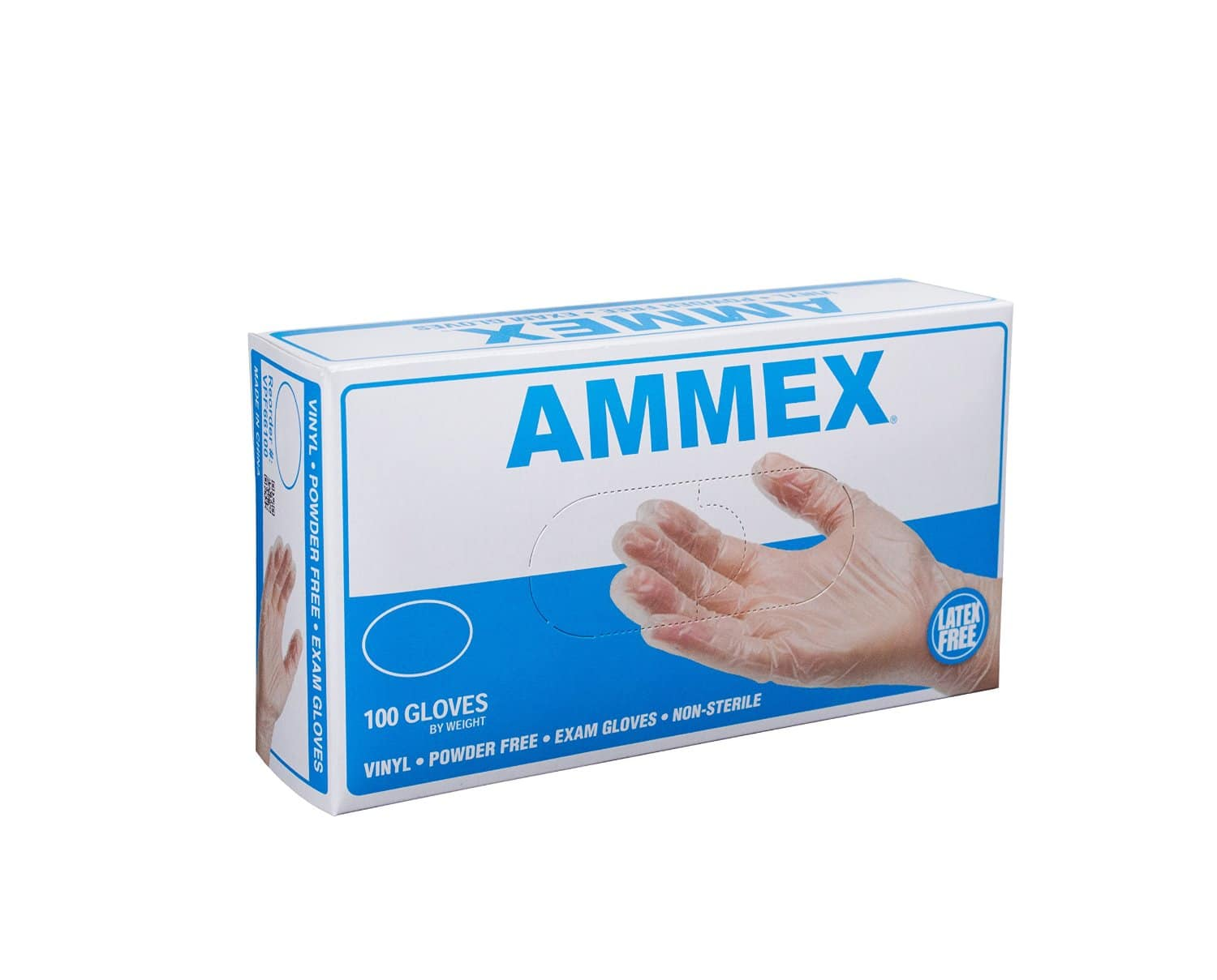 Ammex VPF Vinyl Glove, Medical Exam, Latex Free, Disposable, Powder Free, Small, Large, X-Large (Box of 100) $3.80 or below (S&S) + FS (Prime) (Amazon)