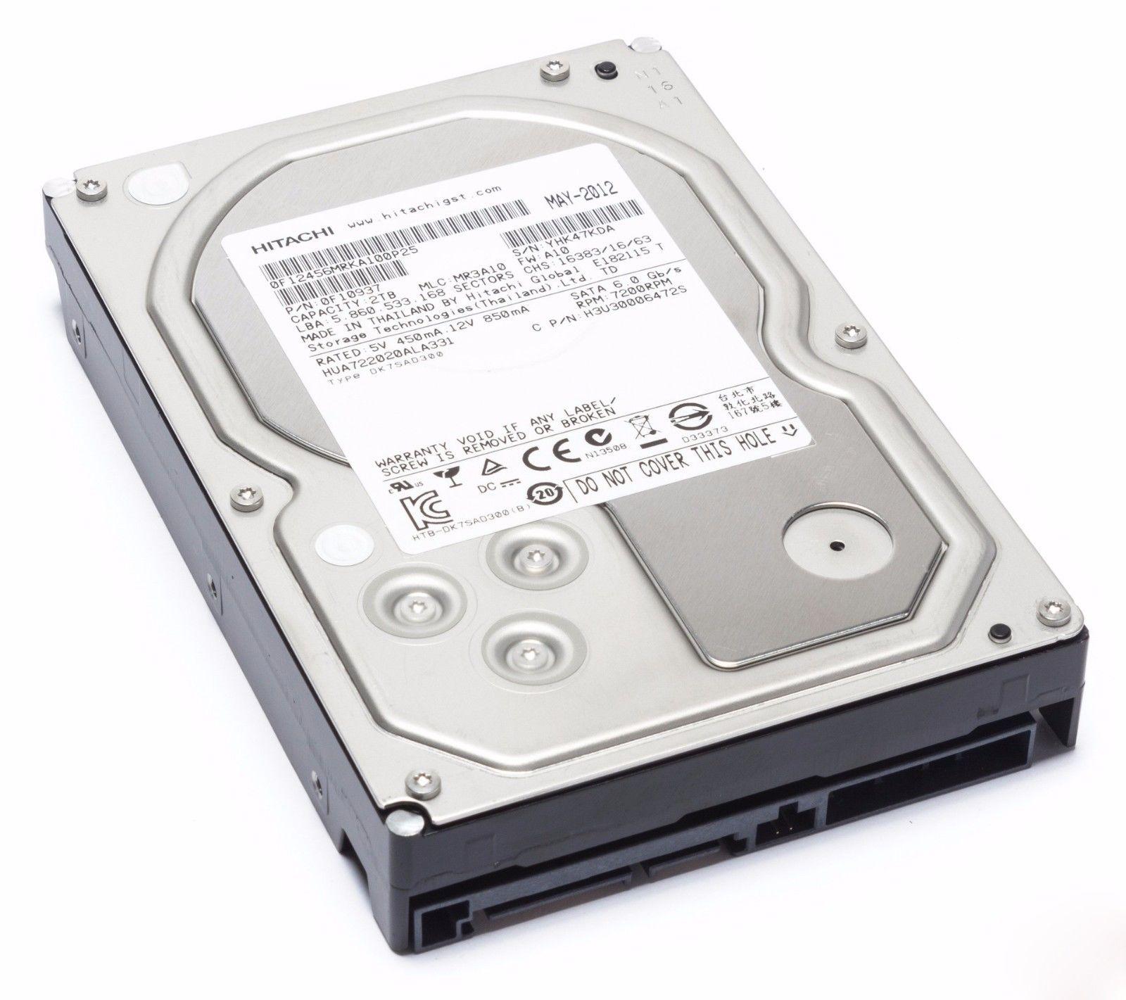 Hitachi Ultrastar A7K2000 HUA722020ALA331 2TB 32MB Cache Internal Hard Drive (Refurbished) $33 + Free Shipping!