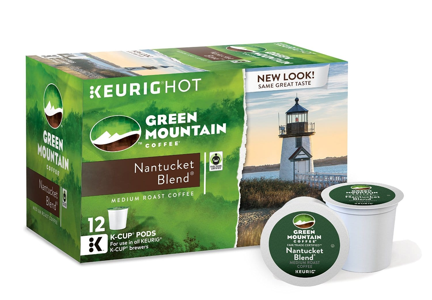 6-Pack of 12-Count Green Mountain Coffee K-Cups(Nantucket Blend) $10.44 + Free Shipping from Amazon