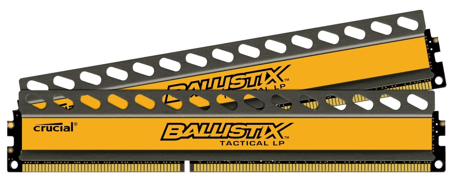Crucial Ballistix Tactical Low Profile 16GB (8GBx2) DDR3-1600 1.35V Desktop Memory BLT2K8G3D1608ET3LX0 for $59.99 + Free Shipping @ Newegg